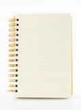 Line paper notebook isolated on white background Royalty Free Stock Image