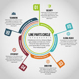 Line Parts Circle Infographic Royalty Free Stock Images