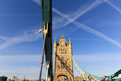 Line pattern and the Tower Bridge Royalty Free Stock Image