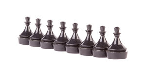 Line of pawns in row Stock Images
