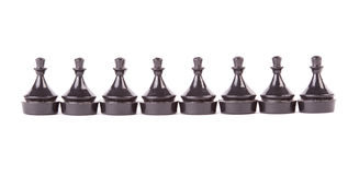 Line of pawns in row Royalty Free Stock Photography