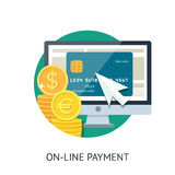 On-line payment Royalty Free Stock Images