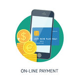 On-line payment Stock Photos