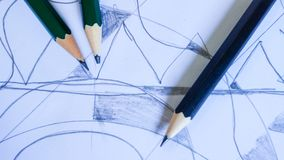 Pencil on background. Line and pencil on background Stock Images