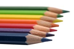 Line of pencils stock image