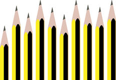 Line pencils set staedtler Royalty Free Stock Images