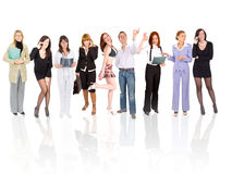 Line of people Royalty Free Stock Images