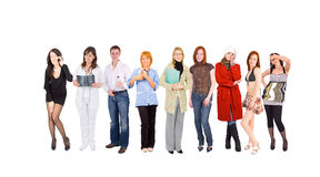 Line of people Stock Image
