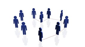 Line of people forming heart shape Royalty Free Stock Photo