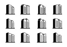 Free Line Perspective Building Urban Icon On White Background, Vector Company And Bank Collection Royalty Free Stock Photos - 156850358