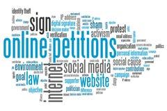 On-line-Petitionen Stockbild