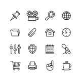 Line phone icons set. Icons for business Royalty Free Stock Photos