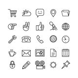Line phone icons set  illustration. Icons for business. Management, finance Royalty Free Stock Image