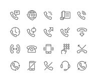 Line Phone Icons Royalty Free Stock Photo