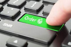 On-line pizza order concept Royalty Free Stock Image