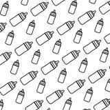 Line plastic bottle feeding object background. Vector illustration royalty free illustration