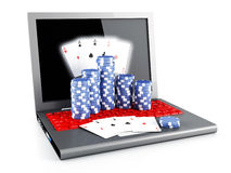 On line poker Royalty Free Stock Image