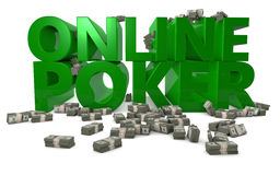 On-line-Poker Lizenzfreies Stockfoto