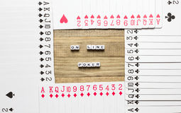 On line poker card game concept art Royalty Free Stock Images