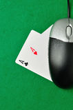 On line poker Royalty Free Stock Photos