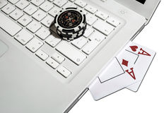 On-line Poker Royalty Free Stock Photography