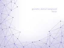 Line polygon geometric abstract background Royalty Free Stock Photography