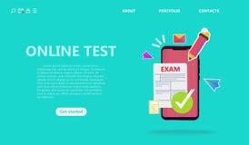 On-line-Prüfungs- oder Prüfungsservicekonzept vektor abbildung