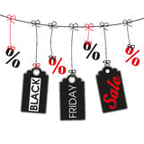 Line 3 Price Stickers Percents Black Friday Stock Photography