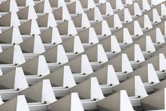 Line of pyramid. Texture on a building like a pyramid Royalty Free Stock Photography