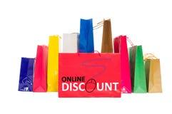 On-line-Rabattkonzept Stockbilder