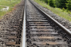 Line of rails Royalty Free Stock Photos