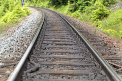 Line of rails Royalty Free Stock Photo
