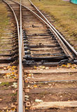 Line of railway crossing Royalty Free Stock Images