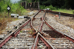 Line of railway Royalty Free Stock Photography
