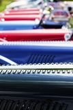 Line of classic cars Royalty Free Stock Photos