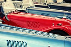 Line of classic cars Stock Photo
