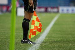 Line referee on soccer match Stock Photos