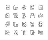 Line Report Icons royalty free illustration