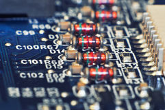 Line of resistors Royalty Free Stock Photo