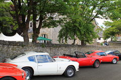 Line of retro sports cars Royalty Free Stock Images