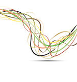 Line ribbon color vector Royalty Free Stock Photo