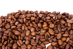 Line of roasted coffee beans Stock Photography