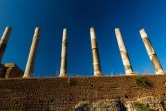 Line of Roman Columns Stock Images
