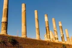 Line of Roman Columns Royalty Free Stock Photography