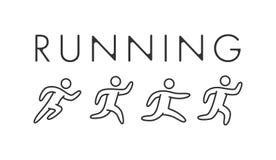 Line running logo and symbol. Vector sport icon royalty free illustration