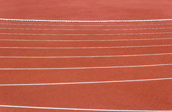 Line of running track Royalty Free Stock Image