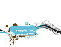 Line sample text vector illustration isolated on w Royalty Free Stock Images