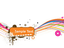 Line sample text vector illustration isolated on w Royalty Free Stock Photos