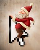 On-line Santa Claus och shoppa Arkivfoto