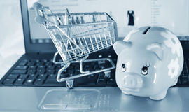 On-line savings Stock Images